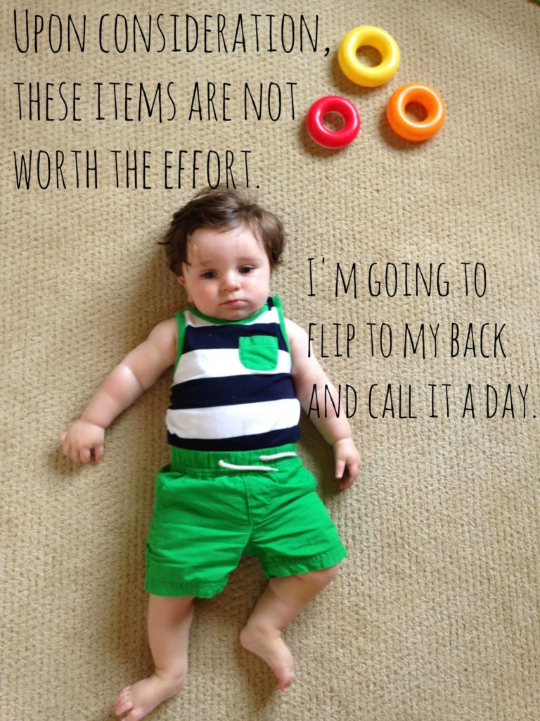 6 Clues That Your Infant Will Be Living With You Until He